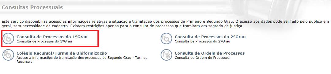 Consultar Processo De 1º Grau Pelo Nome
