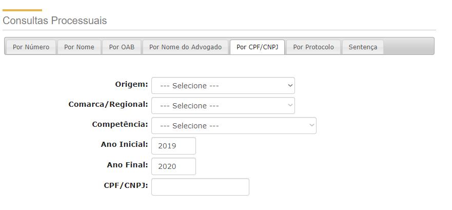Consultar Processo de Pensão Alimentícia Pelo CPF
