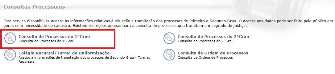 Consulta Processual de 1 Grau