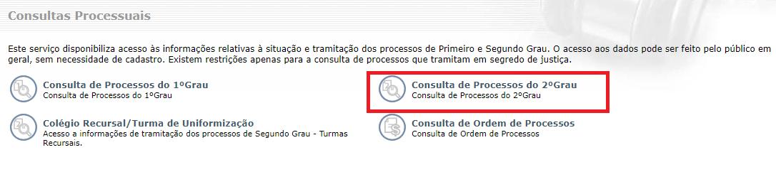 Consulta Processual de 2 Grau
